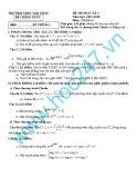 Đề kiểm tra học kì I môn Toán năm học 2013-2014 - Trường THPT Tân Châu