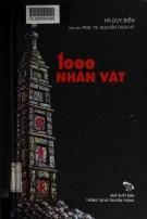 1000 nhân vật lịch sử - văn hóa thăng long: phần 2