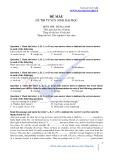 Đề mẫu đề thi tuyển sinh Đại học môn Tiếng Anh