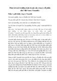 Phân tích môi trường kinh doanh của công ty cổ phần sữa Việt Nam (Vinamilk)