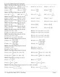 82 câu trắc nghiệm chuyên đề: Lượng giác