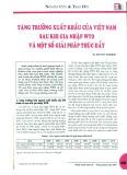 Tăng trưởng xuất khẩu của Việt Nam sau khi gia nhập WTO và một số giải pháp thúc đẩy
