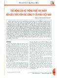 Tác động của hệ thống thuế thu nhập đến cấu trúc vốn các công ty cổ phẩn Việt Nam