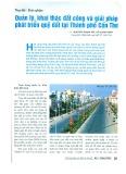 Quản lý, khai thác đất công và giải pháp phát triển quỹ đất tại thành phố Cần Thơ