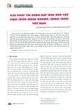 Giải pháp tín dụng đáp ứng nhu cầu phát triển nông nghiệp, nông thôn Việt Nam
