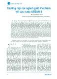 Thương mại nội ngành giữa Việt Nam và các nước ASEAN-5