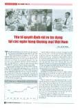 Yếu tố quyết định rủi ro tín dụng tại các ngân hàng thương mại Việt Nam
