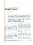 Cộng đồng Kinh tế ASEAN: Khả năng và hiện thực