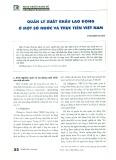 Quản lý xuất khẩu lao động ở một số nước và thực tiễn Việt Nam