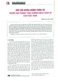 Chỉ số điều kiện tiền tệ - Thước đo trạng thái chính sách tiền tệ cho Việt Nam
