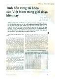 Tính bền vững tài khóa của Việt Nam trong giai đoạn hiện nay