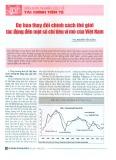 Dự báo thay đổi chính sách thế giới tác động đến một số chỉ tiêu kinh tế vĩ mô của Việt Nam