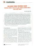 Mô hình tăng trưởng xanh - Khung phân tích và lựa chọn chính sách cho Việt Nam