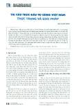Tái cấu trúc đầu tư công Việt Nam - Thực trạng và giải pháp
