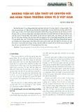 Những tiền đề cần thiết để chuyển đổi mô hình tăng trưởng kinh tế ở Việt Nam