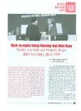 Dịch vụ ngân hàng thương mại Việt Nam trước cơ hội và thách thức đến từ Hiệp định TPP