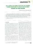 Ảnh hưởng của thông tin từ các thị trường chứng khoán quốc tế đến chỉ số VN-INDEX - Nghiên cứu thực nghiệm