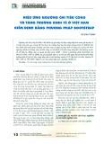 Hiệu ứng ngưỡng chi tiêu công và tăng trưởng kinh tế ở Việt Nam kiểm định bằng phương pháp Bootstrap