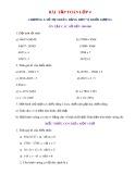 Bài tập Toán lớp 4 Chương I: Số tự nhiên bảng đơn vị khối lượng
