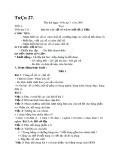 Giáo án Toán lớp 3 - Tuần 27, 28