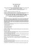 Tiêu chuẩn Việt Nam TCVN 6501:1999 - ISO 10849:1996
