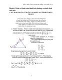 Phần 1: Một số bài toán hình học phẳng và tính chất của nó các bài toán cơ bản và một số định lí quen thuộc