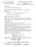 Đề thi thử THPT Quốc gia môn Toán năm 2015-2016 - Sở GD&ĐT Thái BÌnh trường THPT Lê Quý Đôn