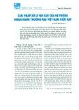 Giải pháp xử lý nợ xấu của hệ thống ngân hàng thương mại Việt Nam hiện nay
