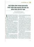 Quá trình hình thành quan điểm phát triển công nghiệp văn hóa của Đảng Cộng sản Việt Nam