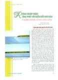 Rừng ngập mặn ứng phó với biến đổi khí hậu ở đồng bằng Sông Cửu Long