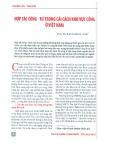 Hợp tác công - tư trong cải cách khu vực công ở Việt Nam