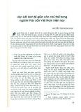 Liên kết kinh tế giữa các chủ thể trong ngành thủy sản Việt Nam hiện nay