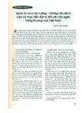 Quản lý rủi ro thị trường - Những vấn đề lý luận và thực tiễn đặt ra đối với ngân hàng thương mại Việt Nam