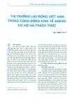 Thị trường lao động Việt Nam trong Cộng đồng Kinh tế ASEAN: Cơ hội và thách thức