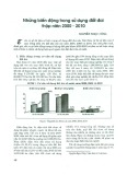 Những biến động trong sử dụng đất đai thập niên 2000 - 2010