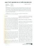 Kinh tế Việt Nam năm 2014 và triển vọng năm 2015