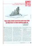 Thực hiện chính sách lạm phát mục tiêu tại Việt Nam từ kinh nghiệm quốc tế