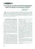 Vận dụng các quy luật của kinh tế thị trường trong quản lý tài nguyên và môi trường ở Việt Nam
