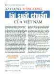 Xây dựng đường cong lãi suất chuẩn của Việt Nam