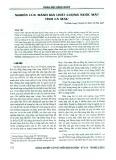 Nghiên cứu đánh giá chất lượng nước mặt tỉnh Cà Mau