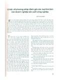 Lý luận về phương pháp đánh giá các loại tình hình của doanh nghiệp sản xuất công nghiệp