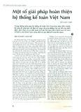 Một số giải pháp hoàn thiện hệ thống kế toán Việt Nam