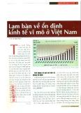 Lạm bàn về ổn định kinh tế vĩ mô ở Việt Nam