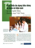 Phát triển tín dụng tiêu dùng an toàn và hiệu quả tại các ngân hàng thương mại Việt Nam