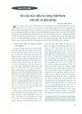 Tái cấu trúc đầu tư công Việt Nam: Vấn đề và giải pháp