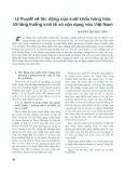 Lý thuyết về tác động của xuất khẩu hàng hóa với tăng trưởng kinh tế và vận dụng vào Việt Nam
