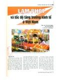 Lạm phát và tốc độ tăng trưởng kinh tế ở Việt Nam