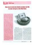 Đào tạo tư vấn tài chính cá nhân tại Mỹ và một vài gợi ý cho Việt Nam