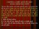 Bài giảng Quản lý và phát triển tổ chức hành chính nhà nước: Chương 6 - Nguyễn Thị Ngọc Lan