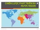 Bài giảng Quản trị chiến lược: Chương 7 - ThS. Trần Minh Anh